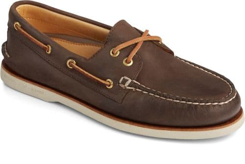 Sperry Gold Cup Authentic Original Lace Mens Shoes Brown
